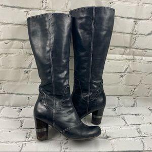 Arnold Churgin knee high heeled boots